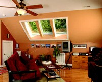 The Velux skylights are remote-controlled. The homeowner also helped QDC locate wall switches 42 inches and outlets 18 inches above the pre-finished hardwood floor.