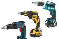 New Cordless Drywall Guns from Bosch, DeWalt, and Makita
