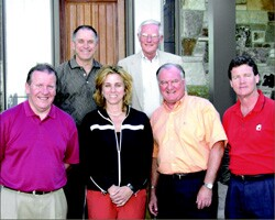 Back row, from left: Ken Klein, Frank Spivey  Front row, from left: Tom Kelly, Susan Cosentini, Tom Swartz, Mark Richardson