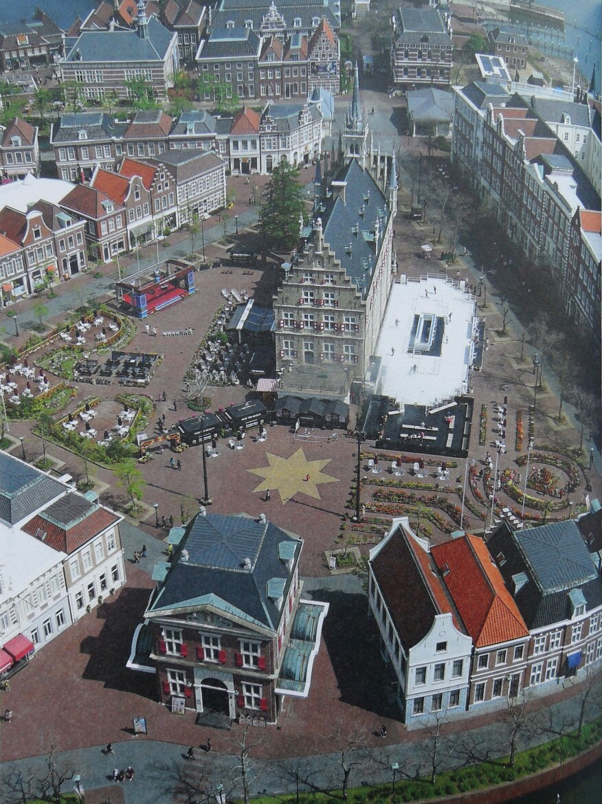 Huis Ten Bosch, in Japan, a themed community featuring replicas of Dutch buildings
