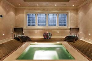 Luxurious home spas are an up and coming luxe home trend.