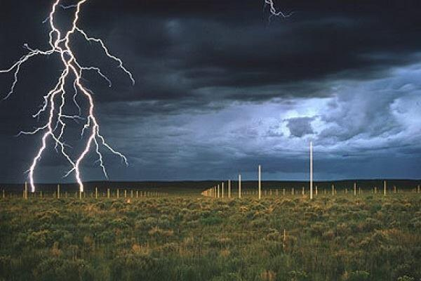"Walter De Maria, ""The Lightning Field,"" 1979."