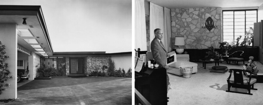 Frank Sinatra's house in Beverly Hills, Calif., designed by Williams  (1954)