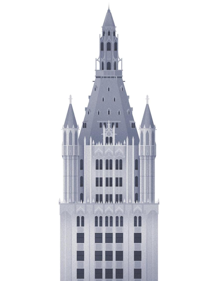 Woolworth Building by Cass Gilbert, completed in 1913.