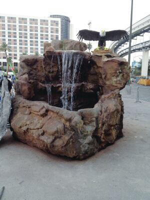 Adrian Gascon, the returning Attendees' Choice winner, built a realistic working waterfall for last year's Artistry in Decorative Concrete Demonstration at WOC 2014.