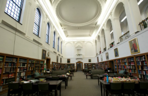 The interior of Mary Cochran Library.