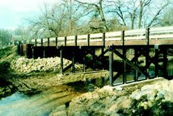 The Burr Oaks Road Bridge—winner of a first-place award in the 2004–05 Timber Bridge Awards—is a 71-foot-long bridge in Linn County, Iowa.