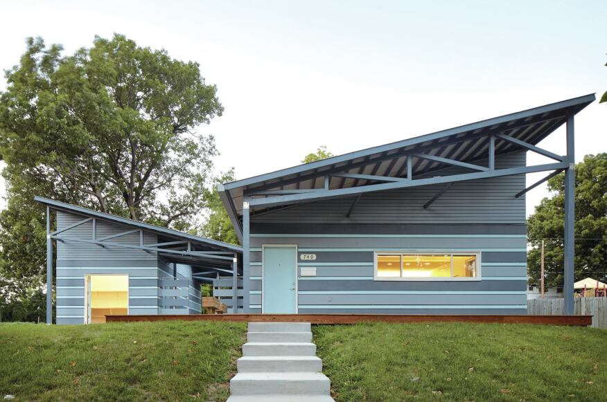 The rainscreen is low-maintenance and brings color to the exterior.