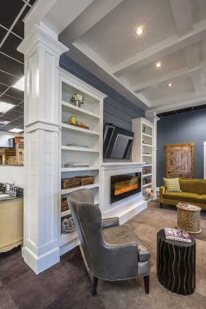 Home Sweet Home.The design center's home-like setting aims to create a relaxed atmosphere.