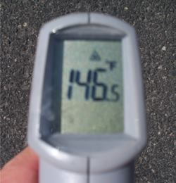 Hand-held infrared temperature sensors can be an effective promotional tool in demonstrating concrete's cooling role in reducing urban heat islands such as asphalt parking lots in Phoenix.