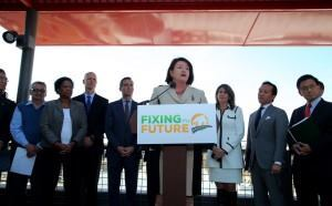 Assembly Speaker Toni Atkins (D-San Diego) announces an affordable housing plan for the state. (Photo Courtesy of the Assembly Democratic Caucus)