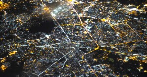 Kabul Cityscape from Sky at Night