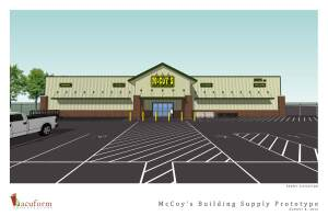 McCoy's Building Supply began construction on its newest facility earlier this month. The Taylor, Texas, location will open in December, the company says.