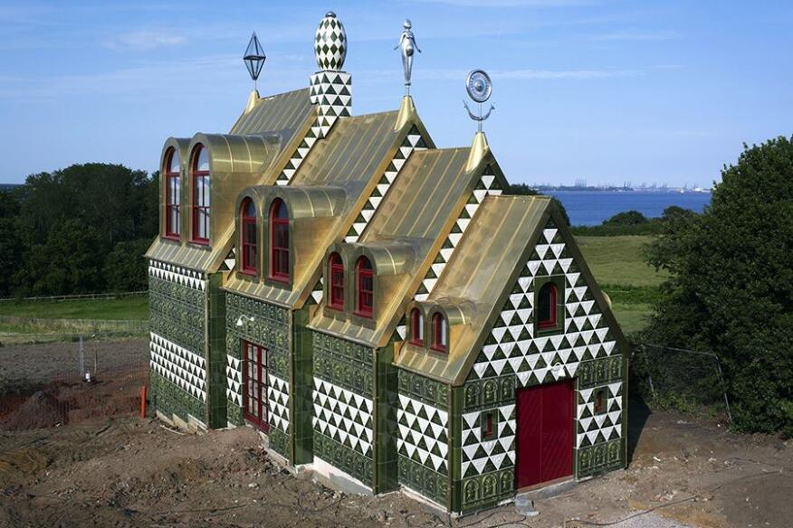 "Britain's ""House for Essex"" by FAT and artist Grayson Perry was designed for the Living Architecture organization, which commissions modern houses for holiday rentals."