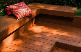 Figure 5. TimberTech's XLM (extreme low maintenance) decking is made from PVC. The boards are 40 percent lighter than the company's wood-plastic-composite planks. The company claims that XLM is the only expanded-polymer decking product with a color-matched railing system. (800/307-7780, www.timbertech.com)