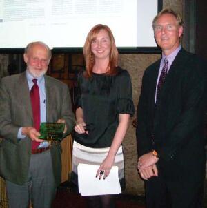 John Reister, Christina Koch, and Award Winner, Rus Perry