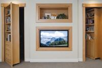 Pivoting Bookcase for Creating Secret Rooms