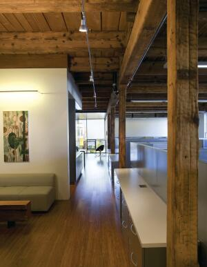Matarozzi/Pelsinger Builders, San Francisco, occupies the section floor and leases out the office space on the third floor of 355 Eleventh Street.