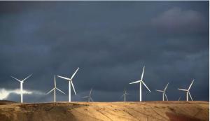 Windfarms are a Google renewable energy initiative.