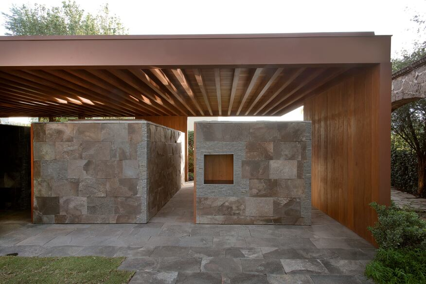 A terrace designed by Salvador Macías Corona and Magui Peredo Arenas of Guadalajara, Mexico-based Estudio Macias Peredo.