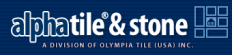 Alpha Tile & Stone Logo