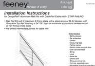 DesignRail® Rail Kit Installation Instructions for Stair Railings