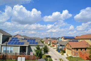 More than a third of the homes participating in the Pecan Street demonstration project have rooftop solar collectors.