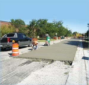 In October 2010 village engineers, representatives from the consulting firms that helped design and build the project, and the Illinois Chapter of American Concrete Pavement Association presented a live demonstration of the ultra-thin whitetopping process.