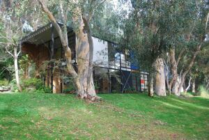 Eames House, also known as Case Study House No. 8, Pacific Palisades. Designed by Charles and Ray Eames, 1949
