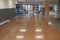 School Opts for Polished Concrete