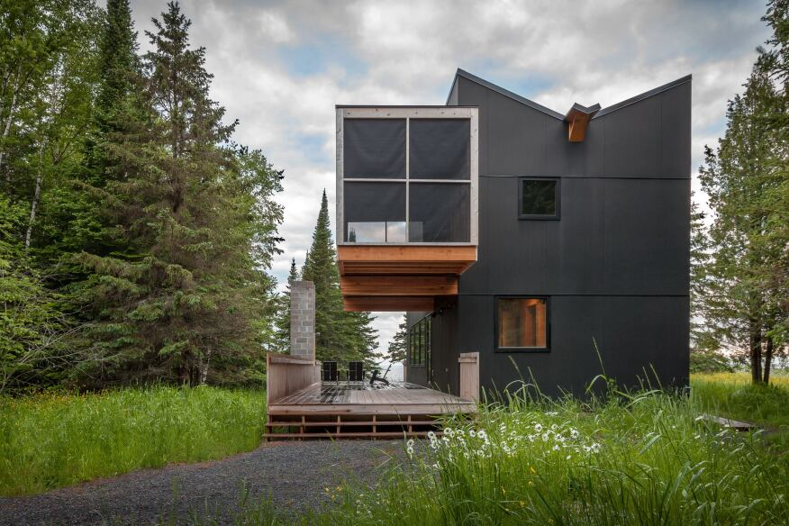Vlietstra Retreat, Herbster, Wis., by Salmela Architect