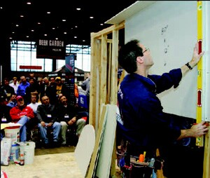 The installation clinics at the show are always popular with remodelers looking for hands-on lessons in innovative building techniques.