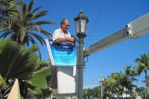New developments in banner and bracket technology eliminate the need to replace community light pole banners flowing heavy winds and hurricanes.