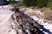 Beachfront Work on Custom Home Unearths a Shipwrecked Boat