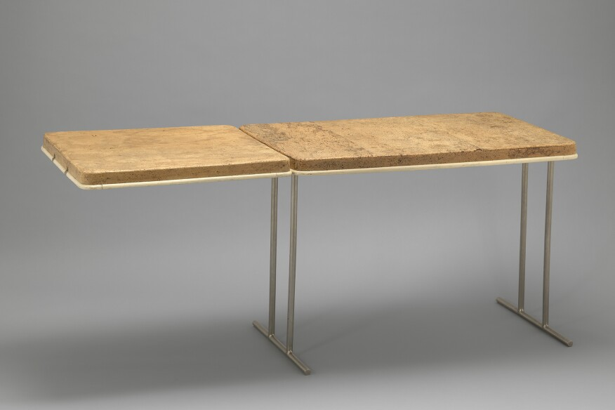 """Extendable Table by Eileen Gray, from her midecentury home """"E-1027"""" in Roquebrune-Cap-Martin along France's Côte d'Azur. Read more about the restoration of Gray's residence in the South of France here."""