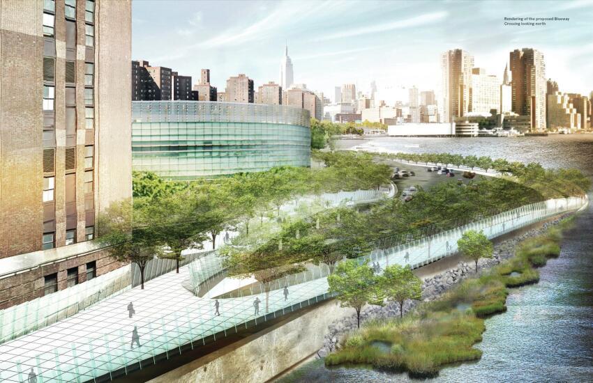 Proposed esplanade.