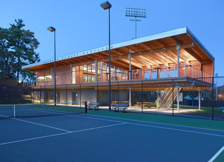 Princeton University Tennis Center, by Dattner Architects.