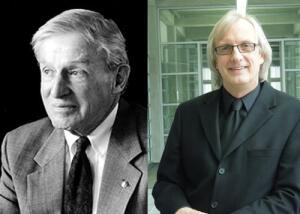 John D. Anderson, FAIA, left; Robert Greenstreet, Intl. Assoc. AIA, right