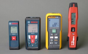 The GLM 15 on the left was tested against three more expensive models--shown here to indicate relative size.