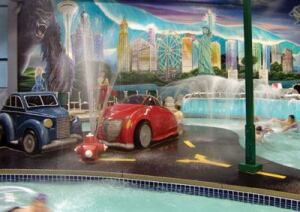 Metropolis Resort's  Chaos indoor waterpark has a uniquely original theme that plays off  children's wildest imaginations