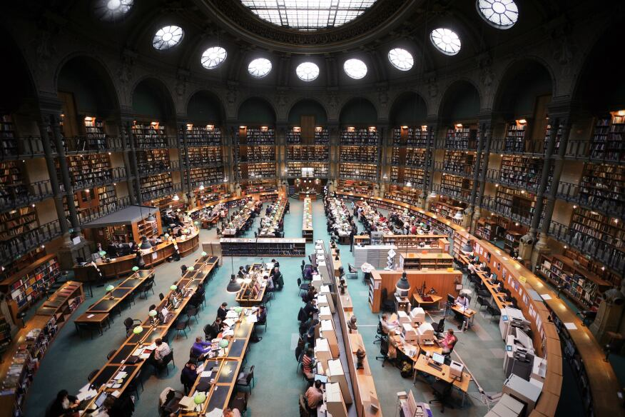 Reading Room, Bibliothèque nationale de France, Paris