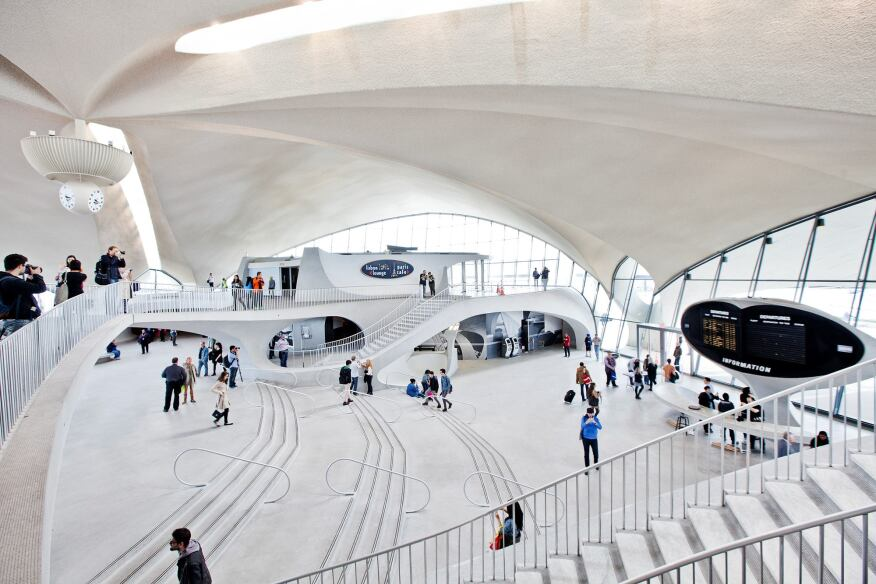 Once the height of aviation glamour, today's TWA terminal remains true to Saarinen's original vision.