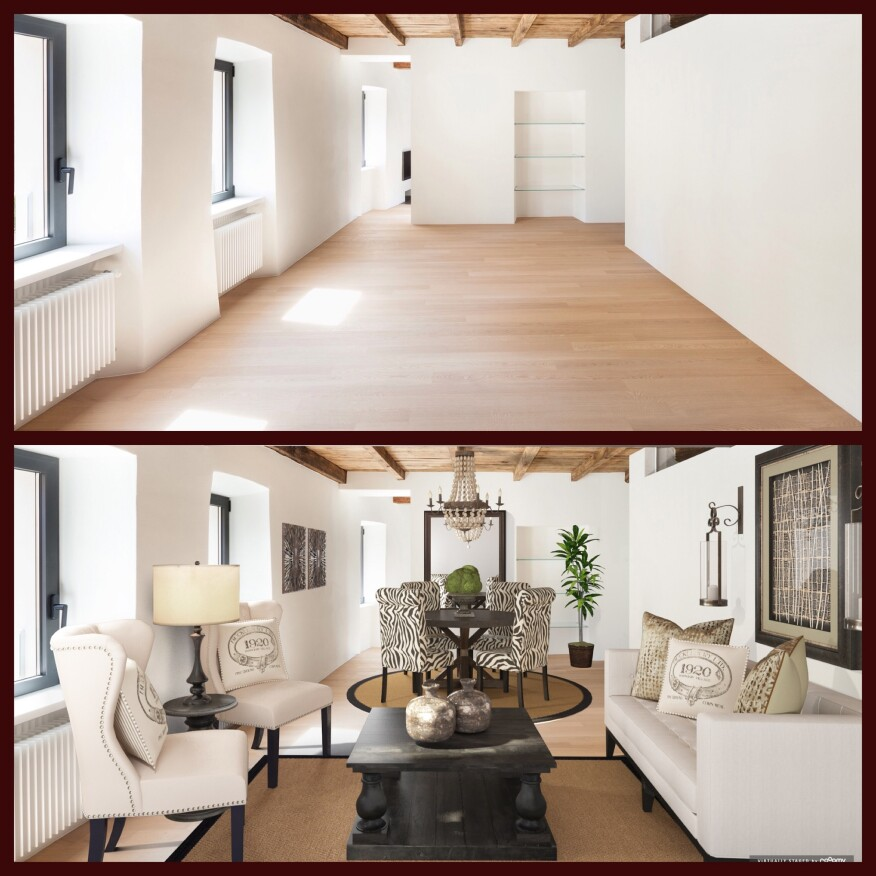 RoOomy's virtual staging app enables prospective renters to see how their furniture will look in a given space.