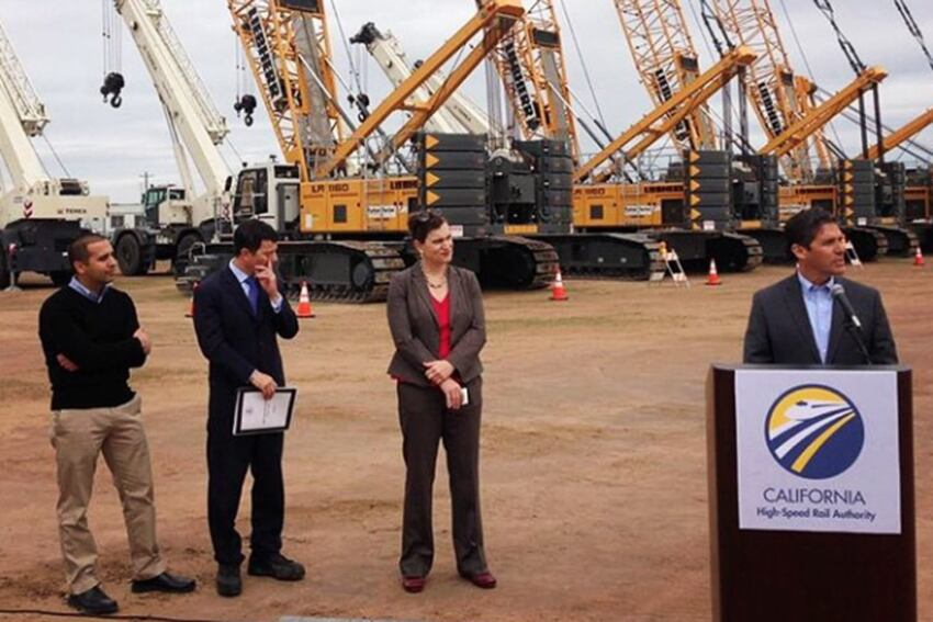California Officials Break Ground on High Speed Rail