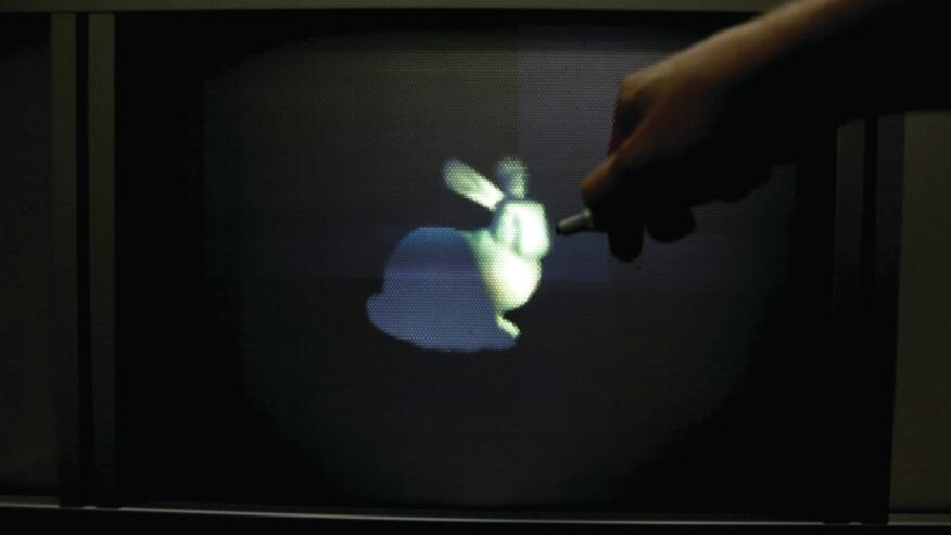 Developed by a team of collaborators, including Disney Research, Interactive Light Field Painting allows users to a create three-dimensional drawings with a light pen, which is tracked by a near-infrared camera.