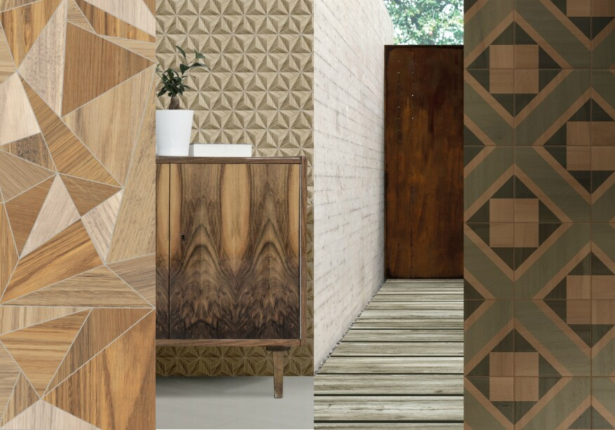 Manufacturers are utilizing new textures to define this year s tile trends   Designs range from lace  macram   linen and madras to masculine suiting  fabrics. Trendy Tiles  The Top Ten Ceramic Finishes for 2017   Builder