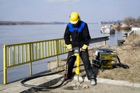 Handheld hydraulic breakers from Atlas Copco