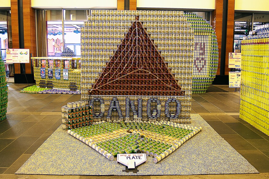 CAN-Go: Illumin-ATE-ing Hunger Since 1995, by CBT Architects (2,500 cans)