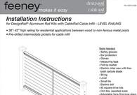 DesignRail® Rail Kit Installation Instructions for Level Railings