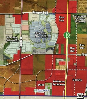 Jerry Jones' tract in Prosper, Tx., the site of an 1,800 master planned community.